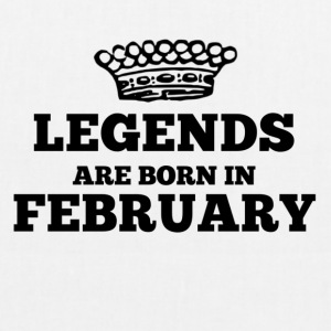 Legends are born in february - EarthPositive Tote Bag