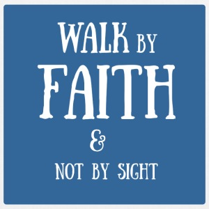 walk by faith - Bio-Stoffbeutel