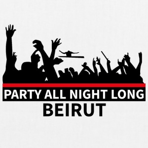 Party All Night Long Beirut - Øko-stoftaske