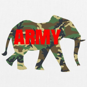 ARMY ELEPHANT - EarthPositive Tote Bag