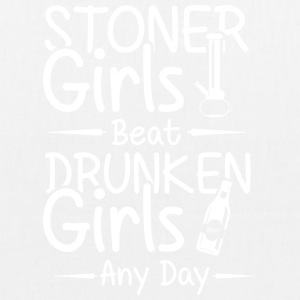 Stoner grils beat druken girls any day - Bio-Stoffbeutel