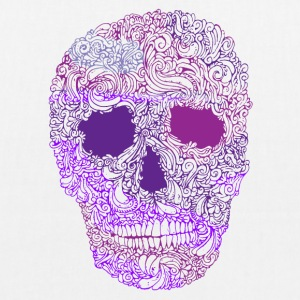 Ornate-Skull-in-Purple - Bolsa de tela ecológica