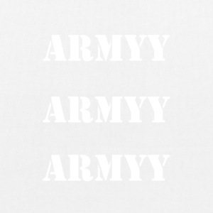 army white words - EarthPositive Tote Bag