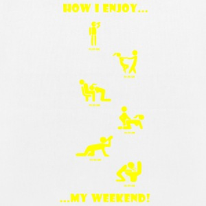 How I enjoy my weekend YELLOW - EarthPositive Tote Bag