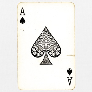 Games Card Ace Of Spades - EarthPositive Tote Bag