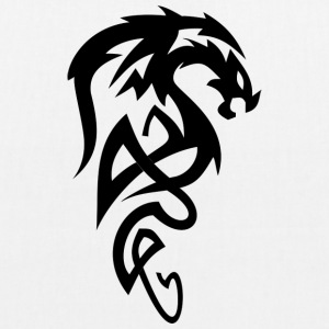 Il male testa Tribal Dragon / dragon per i fan di Dragon - Borsa ecologica in tessuto