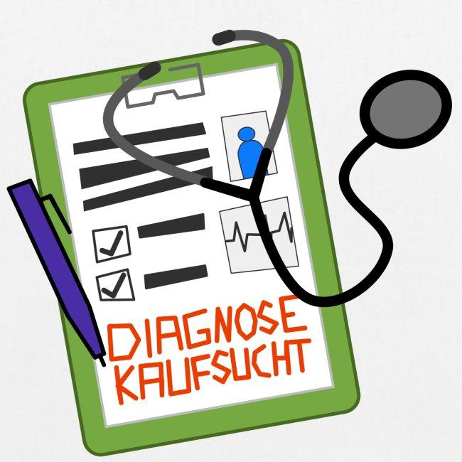 Diagnose Kaufsucht Klemmbrett