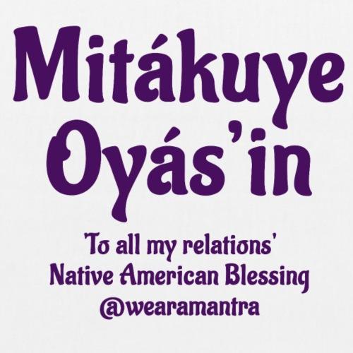 Mita kuye Oyas'in purple - Borsa ecologica in tessuto