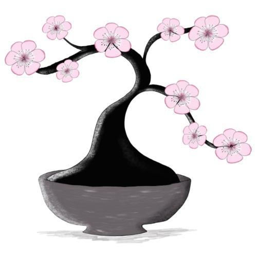 Kirschblueten Bonsai - Bio-Stoffbeutel