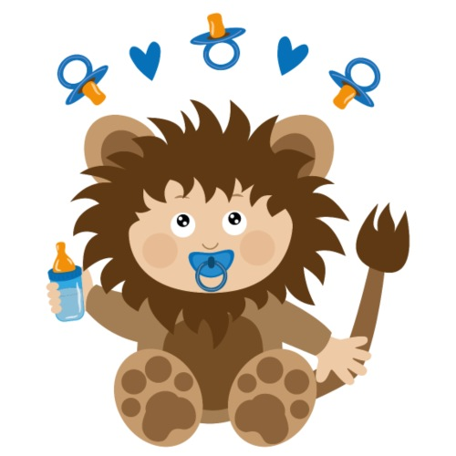 Baby in Löwenkostüm - Bio-Stoffbeutel