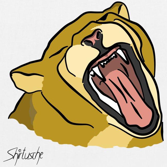 Gähnender / brüllender Löwe