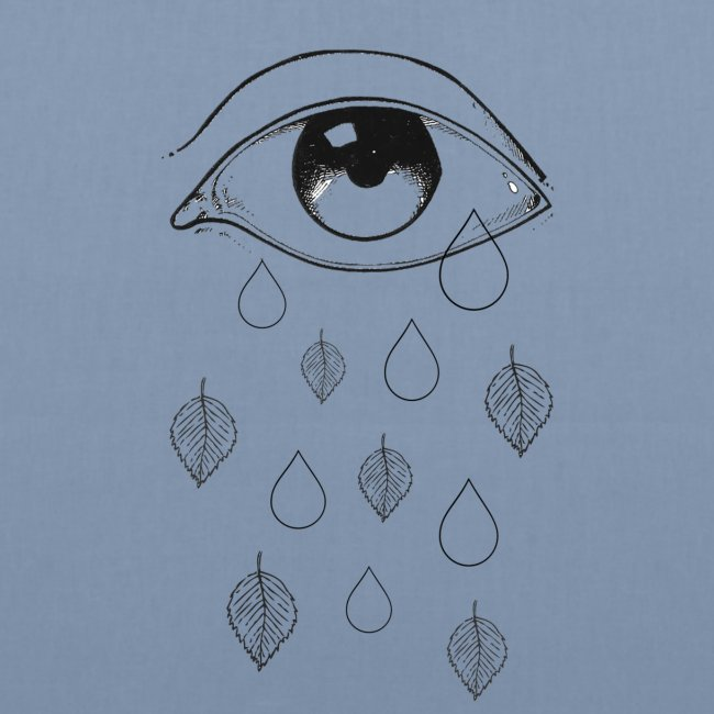 T-shirt teardrops white