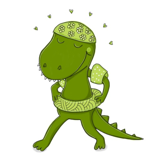 Lustiges Krokodil - Bio-Stoffbeutel