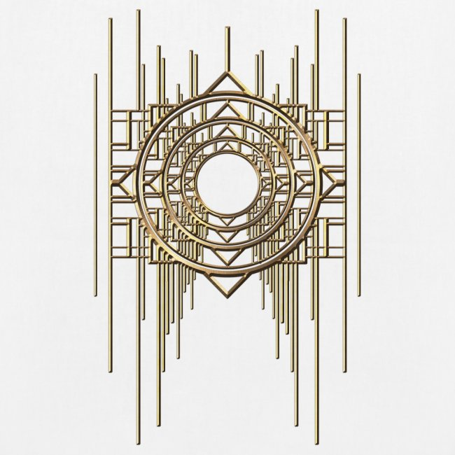 Abstract & Geometric - Gold Metal