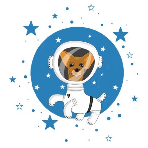 Kleiner Hund im Weltall - Bio-Stoffbeutel