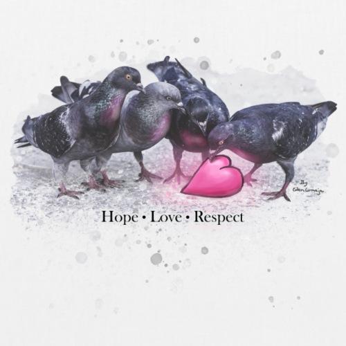 ❤ CHARITY SHIRT ❤ Hope Love Respect - Bio-Stoffbeutel