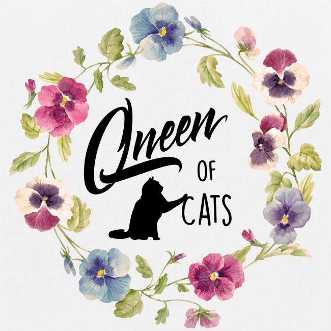 Vorschau: queen of cats - Bio-Stoffbeutel