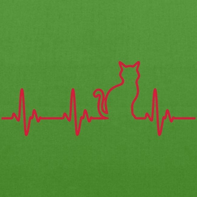 Vorschau: Ein Herz für Katzen - Bio-Stoffbeutel