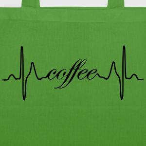 Coffee heartbeat - EarthPositive Tote Bag