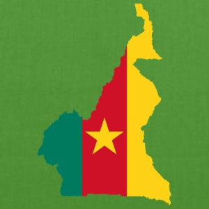 Cameroon map - EarthPositive Tote Bag