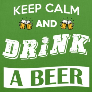 Keep calm and drink a beer - Borsa ecologica in tessuto