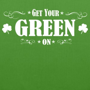 ST PATRICK'S DAY IRISH GREEN ON - EarthPositive Tote Bag