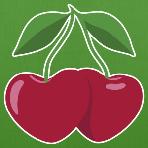 cherries and hearts - Borsa ecologica in tessuto
