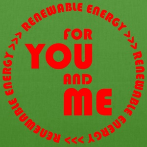 RENEWABLE ENERGY for you and me - red - EarthPositive Tote Bag
