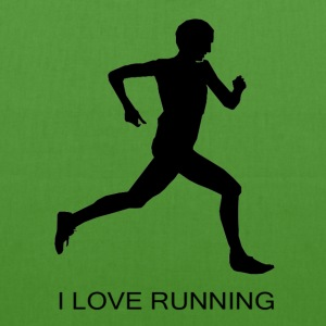 I Love Running - EarthPositive Tote Bag