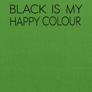 black_is_my_happy_color - Borsa ecologica in tessuto