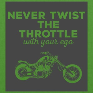 Biker / motorcycle: Never twist the throttle with - EarthPositive Tote Bag