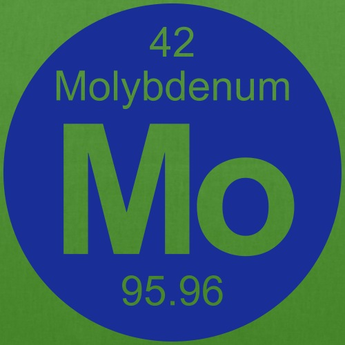 Molybdenum (Mo) (element 42) - EarthPositive Tote Bag