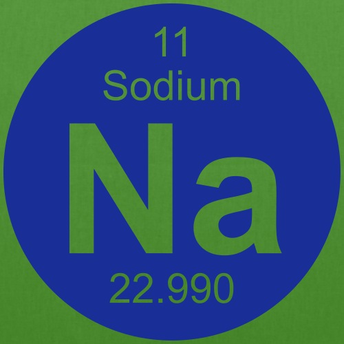 Sodium (Na) (element 11) - EarthPositive Tote Bag
