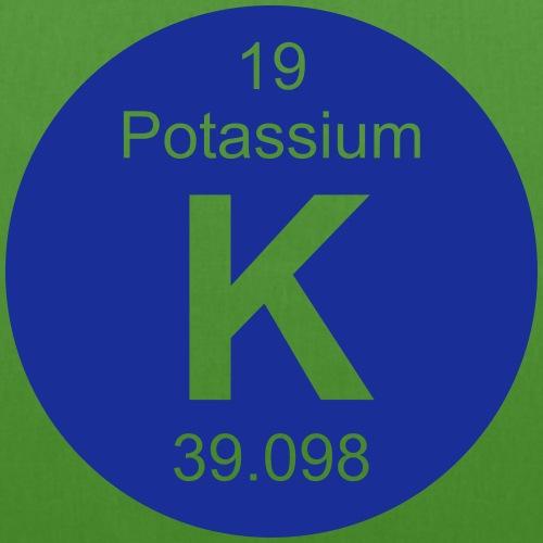 Potassium (K) (element 19) - EarthPositive Tote Bag