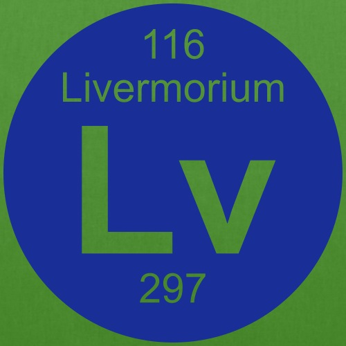 Livermorium (Lv) (element 116) - EarthPositive Tote Bag
