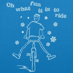 Oh what fun it is to ride! - EarthPositive Tote Bag