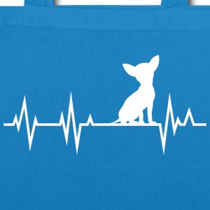 Chihuahua Heartbeat Heartbeat - EarthPositive Tote Bag