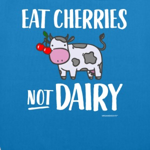 Eat Cherries Not Dairy - EarthPositive Tote Bag