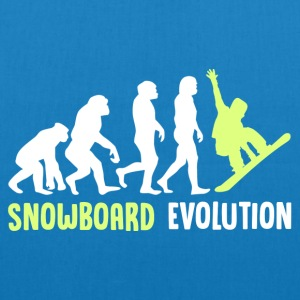 ++ ++ Snowboard Evolution - EarthPositive Tote Bag