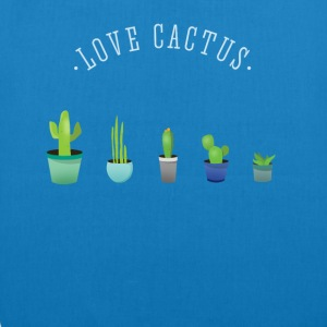 Cactus plant lover green prickly beard Love - EarthPositive Tote Bag
