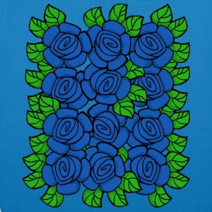 Blue Roses (Transparent) - EarthPositive Tote Bag