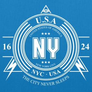 New York Badge - Øko-stoftaske