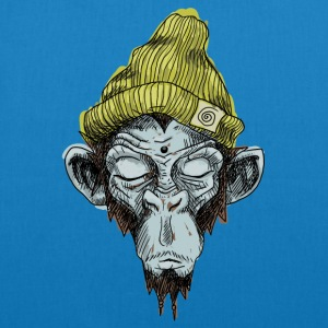 Monkey with hat - EarthPositive Tote Bag