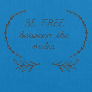 Hippie / Hippies: Be free between the rules - EarthPositive Tote Bag