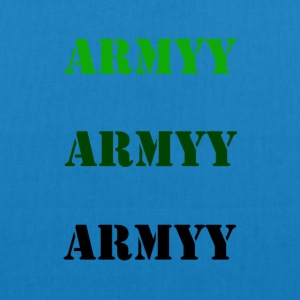 colored army slogan - EarthPositive Tote Bag