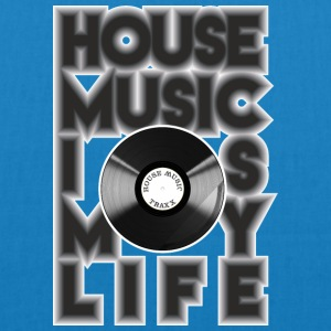 House Music is my life - Bio-Stoffbeutel