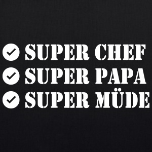 Super Chef Super Papa Super Tired - EarthPositive Tote Bag