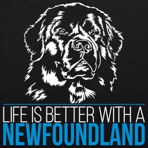 Life is better with a NEWFOUNDLAND - Newfoundland - EarthPositive Tote Bag