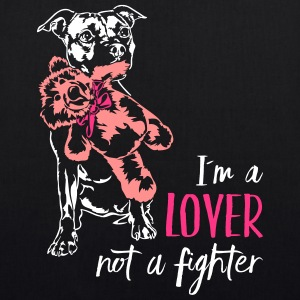 LOVER NOT A FIGHTER - Staffordshire - EarthPositive Tote Bag