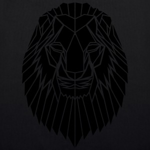 Edgy Geometric safari Lion Print by Stencilize - EarthPositive Tote Bag